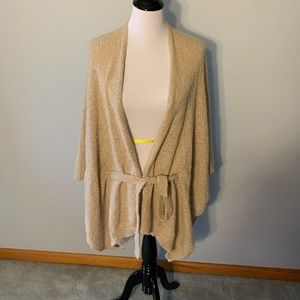 Francesca's Heather Oat Cape with Belt One Size